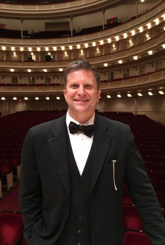 Steve at Carnegie Hall Smiling like a dork